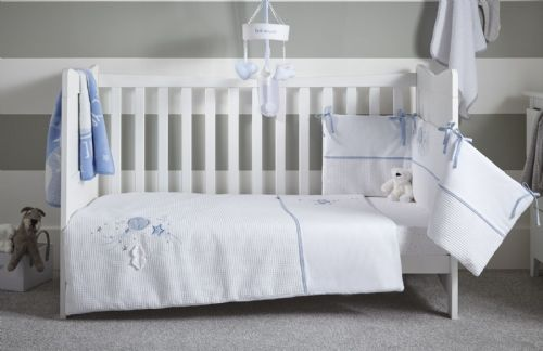 Cot Bed Set - Over The Moon Blue